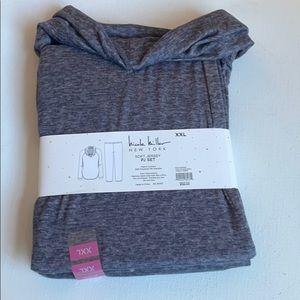 Nicole Miller Jersey Knit Pajama Set XXL Cowl Neck